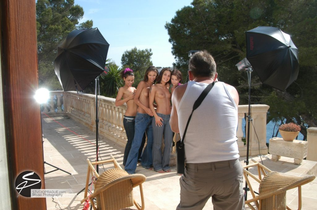 Behind The Scenes Impressions - Glamour Model Productions & Nude Photography Workshops - Dan Hostettler At Work Mixed - 021