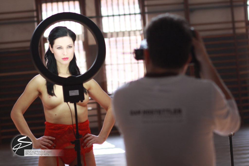 Behind The Scenes Impressions - Glamour Model Productions & Nude Photography Workshops - Dan Hostettler At Work Mixed - 032