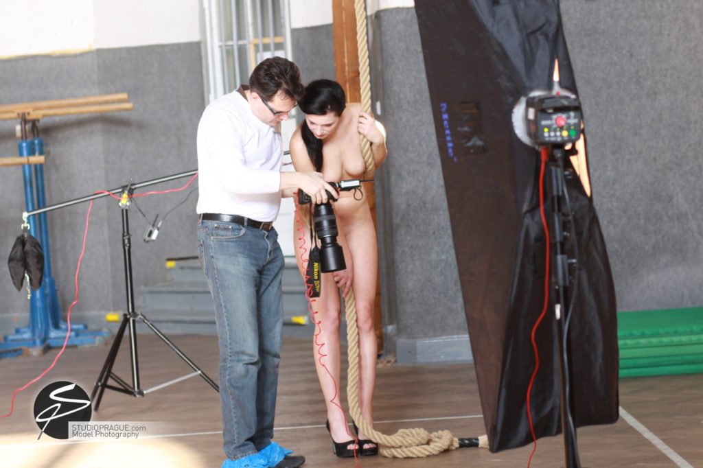 Behind The Scenes Impressions - Glamour Model Productions & Nude Photography Workshops - Dan Hostettler At Work Mixed - 034