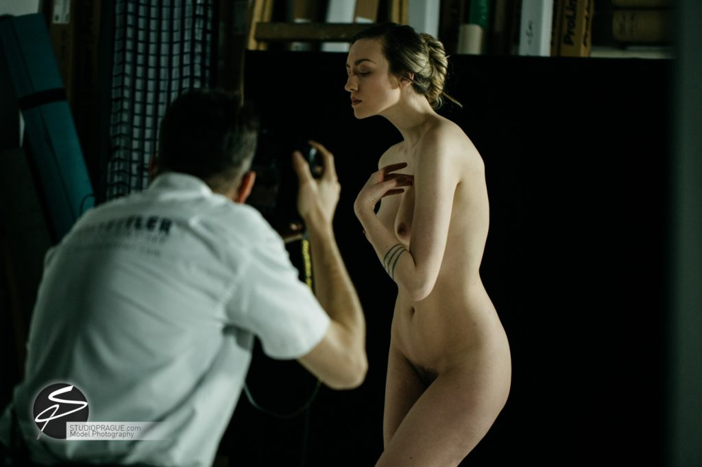 Behind The Scenes Impressions - Glamour Model Productions & Nude Photography Workshops - LIVE Photo Shoot Playmate Dominika & Art Nude Model Hanna - 012
